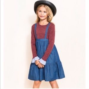 Other - Blue Overall Layered Denim Dress